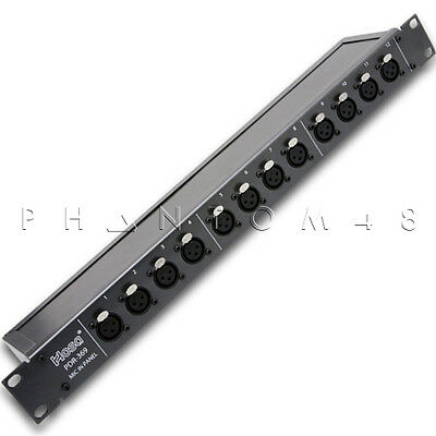Hosa Technology PDR-369 12-point rackmount Balanced XLR Patch Bay Panel - NEW