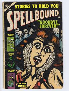 Spellbound #17 Atlas 1953 Classic cover!