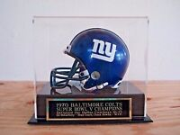 Football Mini Helmet Case With A Baltimore Colts Super Bowl 5 Engraved Nameplate