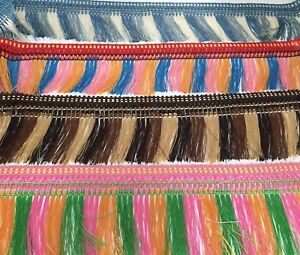 1M x FEATHER FRINGING TRIM IN DIFFRENT COLOURS 5 COLOURS TO CHOOSE FROM