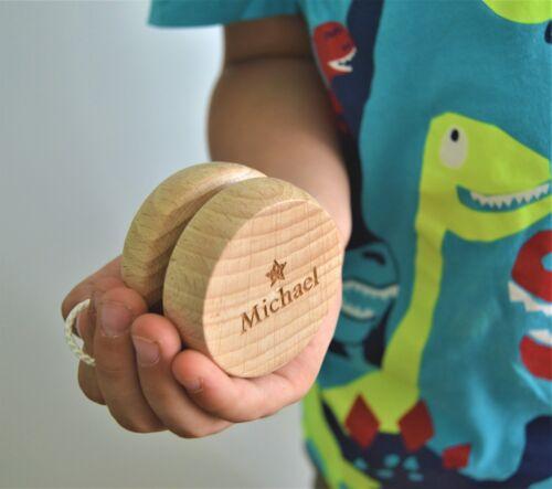 Personalised Medium Wooden Yoyo Classic Children`s Toy Birthday Christening