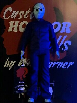 "Santa Voorhees CUSTOM HORROR DOLL OOAK 12"" Jason Friday 13th Figure SALE!"