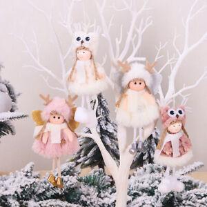 Home-Decoration-Poupee-de-Noel-Angel-girl-Jouet-en-peluche-Sapin-de-Noel