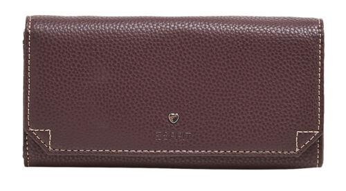 ESPRIT Nell Flap Clutch Wallet Bordeaux Red Braun Rot Geldbörse Neu