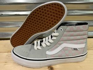 44a924f36a4c Vans SK8 Hi Pro Checkerboard Skate Shoes Smoke Gray Violet SZ 9 ...