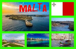 Malte Sites - Souvenir Nouveauté Réfrigérateur Aimant - Cadeaux / / Drapeaux -