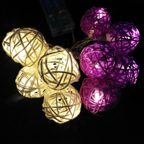 10//20 LED Battery Operated Lights Fairy Christmas Wedding Indoor Outdoor Decor