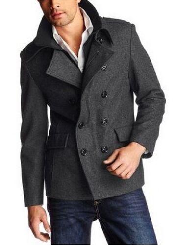 Caban Wolle Neu Herren Kurz 58 56 Winter Gr In Puncto mantel Grau Jacke qxUP15