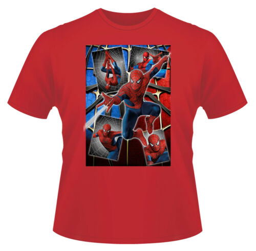 Funny T-Shirt Boys Girls Kids Age 3-15 Ideal Gift//Present Spiderman Montage