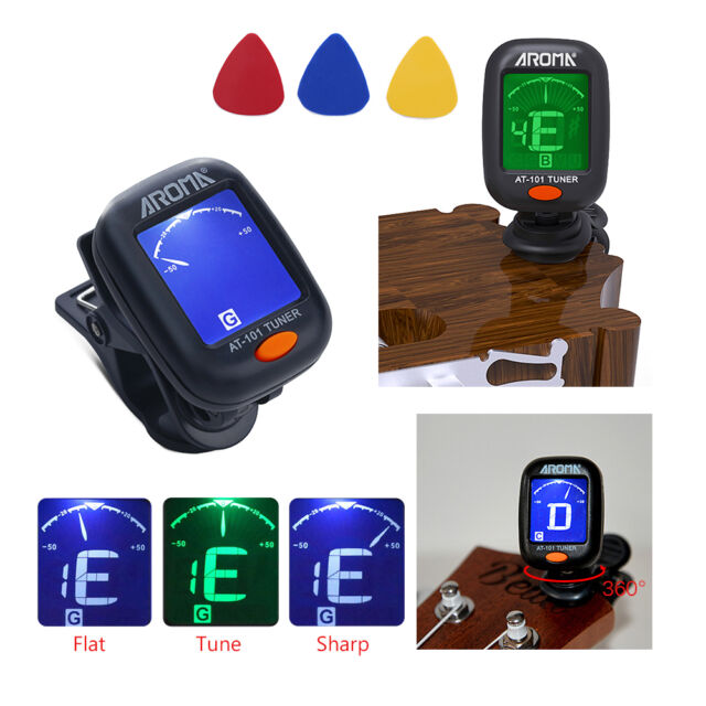 chromatic guitar digital tuner electric for acoustic clip on with battery z for sale online ebay. Black Bedroom Furniture Sets. Home Design Ideas