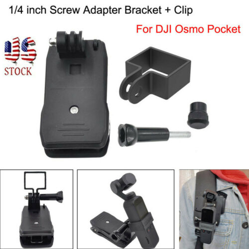 Expansion 1//4 inch Screw Adapter Bracket Clip For DJI Osmo Pocket Gimbal US