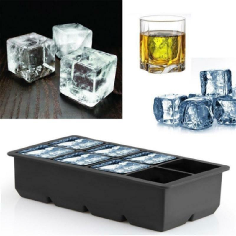 15 Big Cube Giant Jumbo Silicone Ice Cube Square Tray Mold Mould