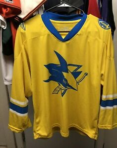 reputable site 2bbb4 719f5 Details about San Jose Sharks, Golden State Warriors Stadium Give Away, SGA  NHL Jersey, Sz Med