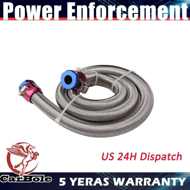 s l640 1pc silver 3 8 inch stainless steel braided fuel lines includes hose