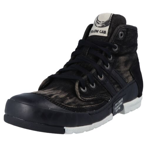 Yellow Cab Mud M y15463 Hommes Haute Chaussures basses Sneaker Jeans Optique Bleu Noir