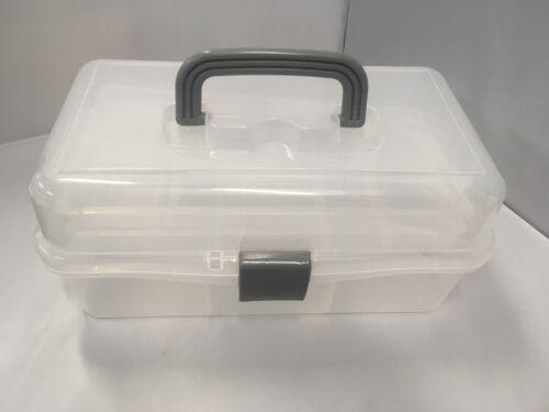 Voladizo Caddy Caja 2 Bandeja de almacenamiento para pinturas artistas aparejos de pesca