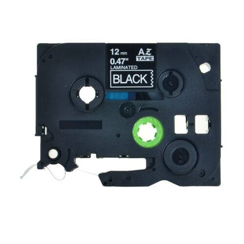 2PK TZe335 TZ335 White on Black Label Tape For Brother P-Touch PT-D200MA 1//2/""