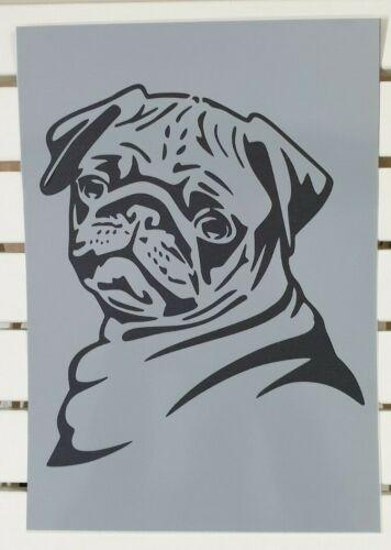 Cute Bulldog Puppy Stencil MYLAR A4 sheet strong reusable Art Wall Craft Deco
