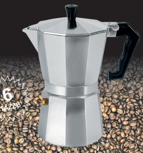 Italian Coffee Maker Cafetiere Espresso Stove Pot Aluminium 6 cup Percolator