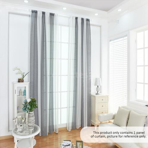 Cotton Linen Voile Door Curtain Window Room Divider Voile Curtain Drape Top X6H7