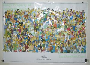 HUGE-The-Simpsons-Springfield-2001-Wall-Poster-39-5-034-x-55-034-GB-Posters-FL0315