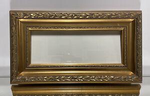 Aesthetic-Art-Nouveau-Design-Wood-Picture-Frame-Fits-4-034-x10-034-Gold