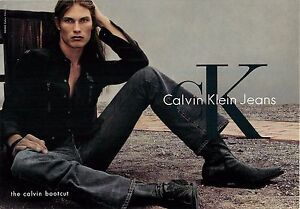 picked up popular style stylish design Details about Calvin Klein Bootcut Jeans Man in Cowboy Boots Advertisement  Postcard 6x4