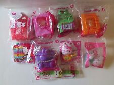 9 pc lot McDonalds 2016 5 HELLO KITTY SANRIO Happy Meal Toys sketch kit watch +