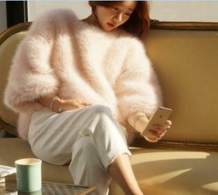 Damen Rundhalsausschnitt Langarm Kunstpelz Warme Winter Tops Coat Casual Outwear | Sale Deutschland