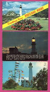 Faro-Lote-de-15-Vintage-Tarjeta-Postal-410