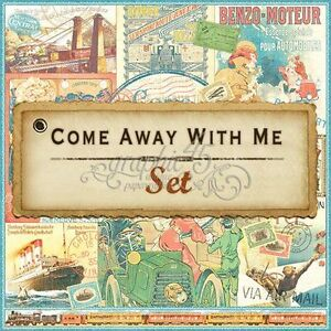 """GRAPHIC 45 """"COME AWAY WITH ME"""" 12X12 PAPER (8 SHEETS) TRAVEL SCRAPJACK'S PLACE"""