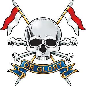 Royal Lancers ( Death or Glory ) Vinyl Decal / Sticker (10cm x 10cm) - Military