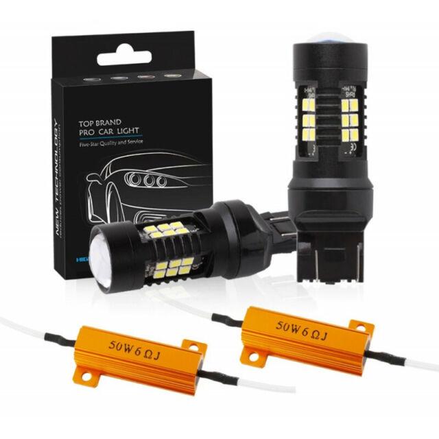 Ampoule 21 LED T20 W21 5W Blanc Xénon Feux De Jour DRL Canbus anti-erreur