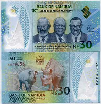 NAMIBIA PNEW B218 30 DOLLARS COMM 2020  POLYMER 30th Ind Anniversary @ EBS