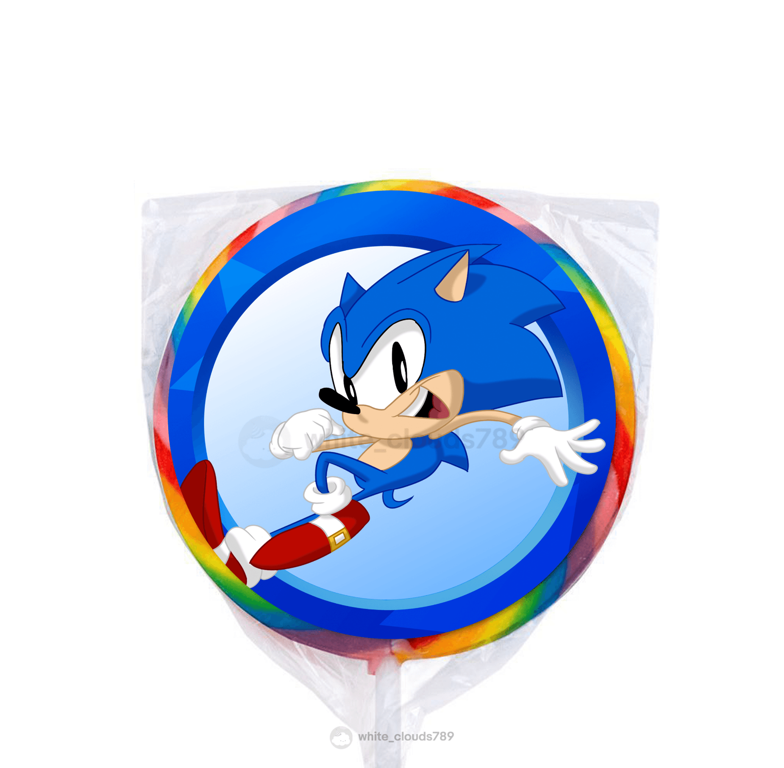 10 Sonic The Hedgehog Video Game Bubbles Birthday Party Favor Bag Sticker Goody For Sale Online Ebay