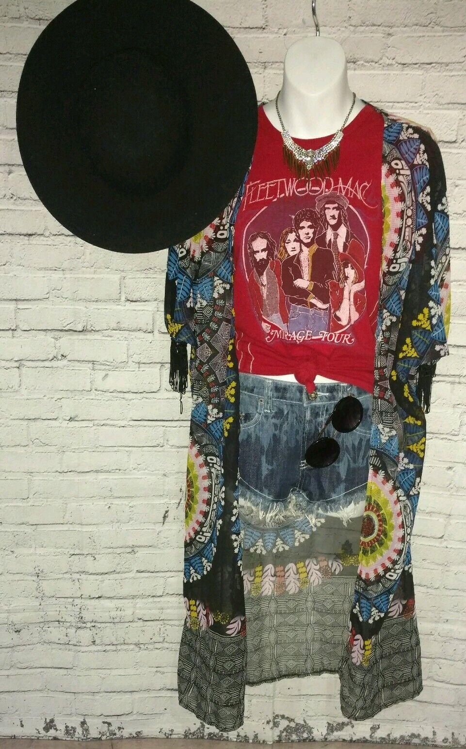 Trunk LTD Fleetwood Mac Mirage Tour Tee Shirt Stevie Nicks Limited Edition rot M