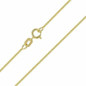 9e73f2bfaade2 14K Solid Yellow Gold Box Necklace Chain 0.5mm 16-22