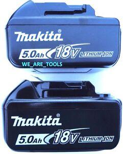 2-New-Genuine-Makita-BL1850B-2-18V-Batteries-5-0-AH-LED-Gauge-18-Volt-LXT