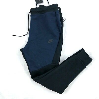Nike Tech Fleece Jogger Pants Sweatpants Black Navy Blue ...