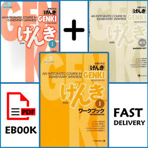 Genki-1-Japanese-Textbook-Answer-key-workbook-2nd-P-D-F-Fast-delivery