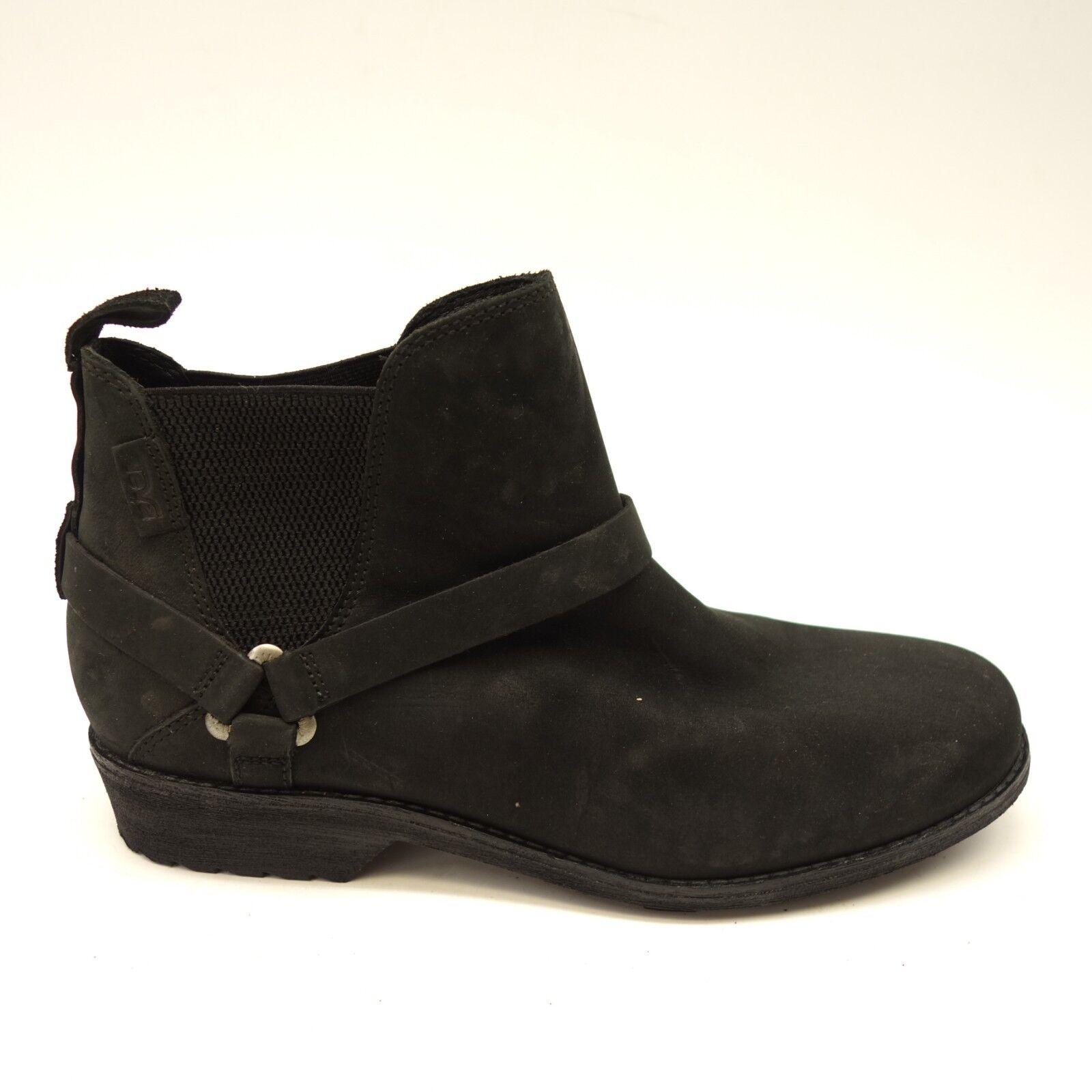 Teva Womens De La Vina Dos Boots Low Waterproof Black Riding Boots US 9