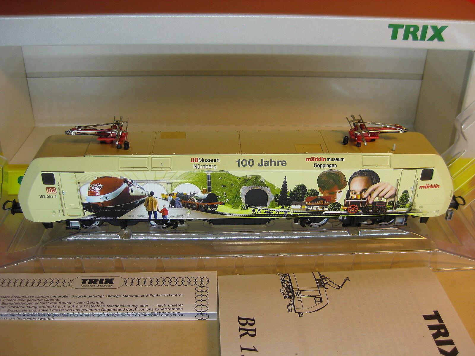 Trix t 22716 h0 e-Lok br 152 001-4  100 años DB museo  mhi nuevo & OVP