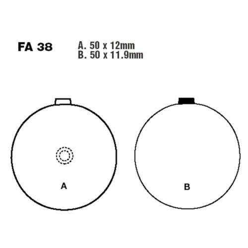 EBC Bremsklotz Semi-Sinter V f Suzuki GS 500 E N GS500E GS500E-10208 FA038V 505