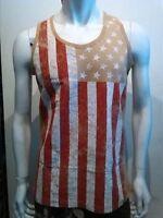 Usa Flag Tank Top Mens American Flag Fashion Tank Usa Tank Top S-2x 2