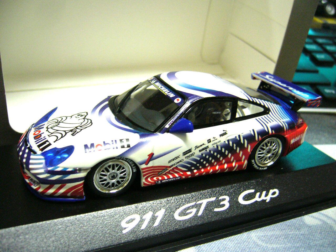 PORSCHE 911 996 GT3 Cup VIP Presentation Mobil Michelin RARITÄT Minichamps 1 43