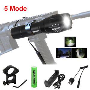 A100-6000Lm-XM-T6-LED-Tactical-Hunting-Flashlight-5-Mode-Torch-Mount-Light-Gun