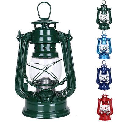 Retro Outdoor Oil Lantern Kerosene Mediterranean Hurricane Light Camping Lamp UK