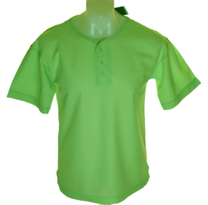 Bnwt-Authentic-Mens-Tribute-Crew-Neck-T-Shirt-3-button-Front-Green-New-With-Tags