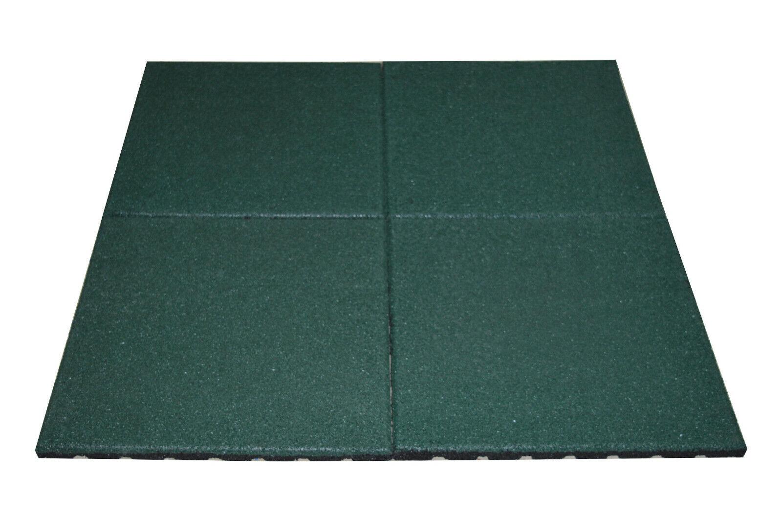 4X Fallschutzmatte (a 5kg) Grün  50x50x2,5cm Gummimatte Fallschutz Spielplatz