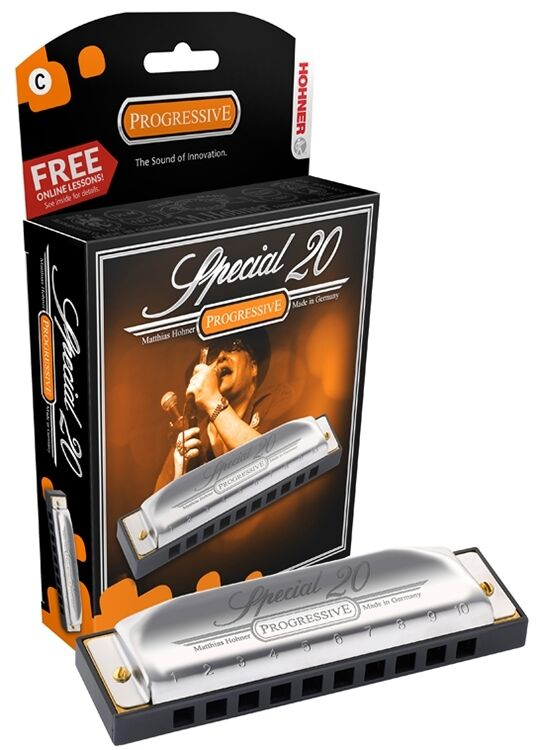 Hohner Special 20 Harmonica, Key of D, 560PBX-D, Brand New In Box